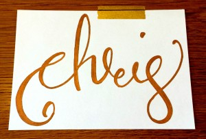 chris calligraphy